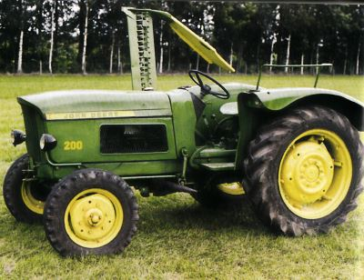 Tractor Jhon Deere-Lanz 200 Tractores