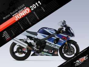 Calendario de Motos Suzuki GSXR para Junio 2011