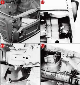 Desmontaje y corte de las planchas deformadas